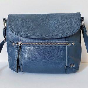 The Sak Navy Blue Leather Crossbody Bag